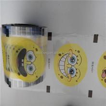 self-adhesive clear plastic film / cup sealing film
