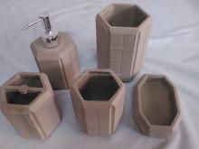 Concrete made whole set fake stone bathroom set from Shenzhen Tianma ARTS&CRAFTS CO.,LTD