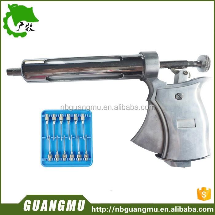 automic syringes gun type adjustable 50ml veterinary syringe