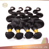 China Xuchang SV hair wholesale best selling brazilian body wave and deep wave hair, high quality peruvian funmi hair