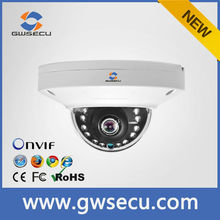 GWSECU ir indoor outdoor poe mini dome camera ip 3 megapixel cloud p2p ip camera onvif 2.4 working with Hikvision dahua nvr