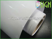 Promotion adhesive vinyl foil with clear gule,printable vinyl sticker,roll materials for digital printing