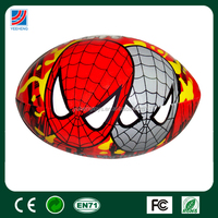 PVC rugby ball, spider man baby play ball
