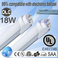 99% compatible with electronic ballasts led tube t8 indian 100-277V UL DLC