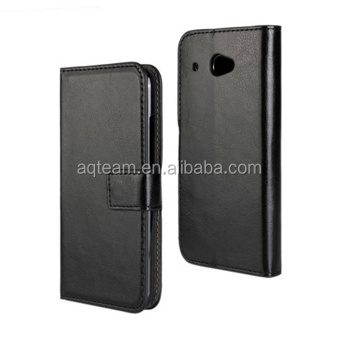 Crazy Horse grain Card slot Wallet PU Leather case For HTC desire 601