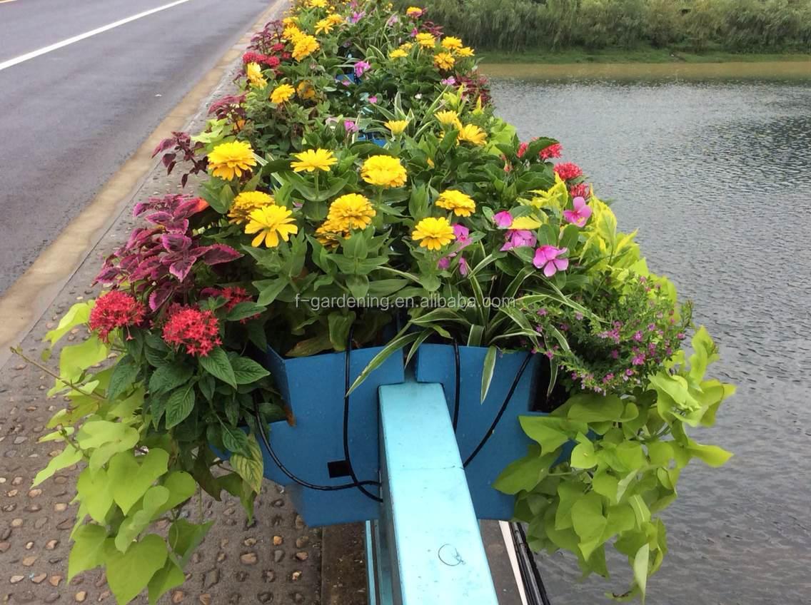 Guardrail Planters Plastic Planters Saddle Shape Road