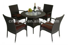 2015 new product garden rattan furniture outdoor furniture 5pcs dining table chairs set
