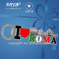 Traveling souvenir ROMA bottle opener for gift