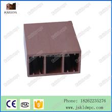 150*60mm good price PE extrusion wpc composite square tube for pergola