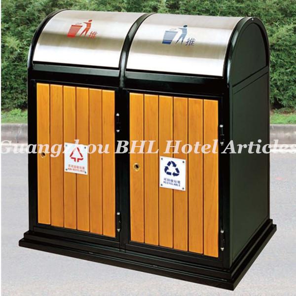 grande capacit en bois gestion des d chets en m tal en. Black Bedroom Furniture Sets. Home Design Ideas