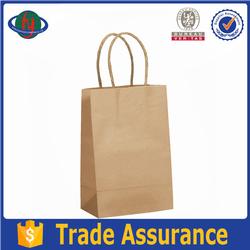 2015 Dark brown eco-friendly craft paper shopping bag