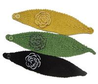Knitted Headbands Flower Wool Warmer Hair Bands