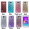 Unique Fashion Diamond Soft TPU Back Cover Cell Phone Case For Samsung Galaxy NOTE 4