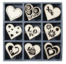 Wooden Ornaments Hearts