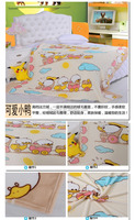 2015 cartoon animal and children's bed sheets and anti-pilling fleece flannel blanket bed sheet