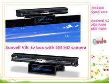 Sunvell V3 Android 4.2 Dual Core smart TV BOX RK3066 1GB/8GB Support External 3G wifi USB Dongle Remote Control
