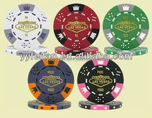 2015 new design priting logo poker chips,clay material can custom logo