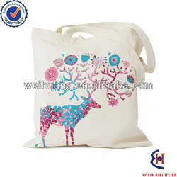 wholesale custom cotton carry bag with printing