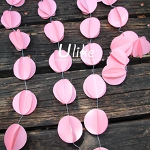 Hot!! 3D round paper garland for wedding party decorations