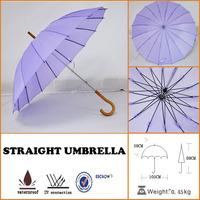 dreamlike lady's beautiful purple rain 16ribs straight umbrella