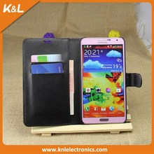 Best Selling Stand Cover PU Leather Flip Wallet case for SamSung Galaxy Note 3 with Business Card Holder
