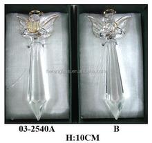 elegant crystal craft angel glass decoration