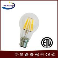 Energy saving lamp UL ETL led light bulb A60 A19 led filament lamp Dimmable new products 2016