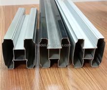Polished aluminum extrusion profile toilet cubicle partition head rail