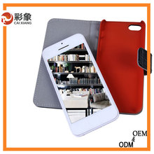 2015 High quality leather mobile cell phone case for iphone 5