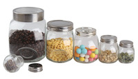 RC052A Clear storage glass jar