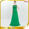 2015 Hot Sales New Design Green Long Elegant Lace Evening Pron Dress
