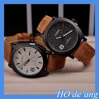 HOGIFT 2015 Best Selling Brand Leather Strap Curren Men Watch