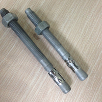 standard size m16 anchor bolt and nuts galvanized