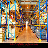 Selective euro pallet rack for storage