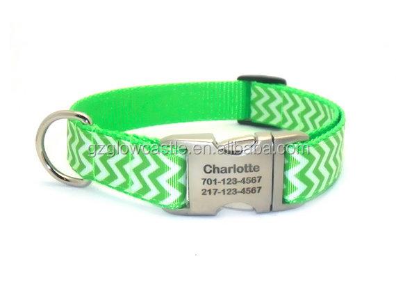 Chevron Stripe Personalized Dog Collar (2).jpg