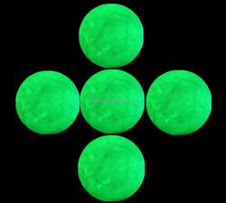Funny golf ball night flyer on green