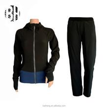 BH OEM polyester spandex women fitness wear/jacket/pants/sets