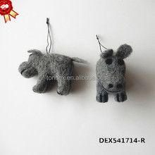 2015 handmade wool felt home decoration christmas animal