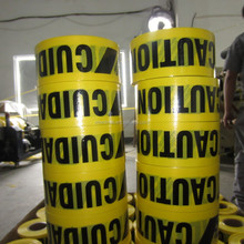 Pe woven customized caution tape/ warning tape/ barrier tape