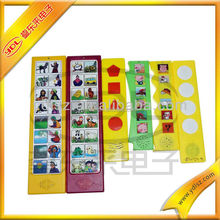 Education vehicle/fruit/animal voice sound panel for children talking story book