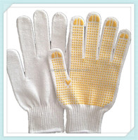 2014 ADTO GROUP good quality Safety cotton knitted hand Gloves/white cotton garden gloves/industrial cotton gloves walmart