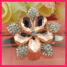 flower crystal rhinestone brooch for wedding bridal bouquet WBR-1241