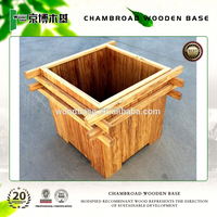 high quality big outdoor flower pots, wooden flower pots