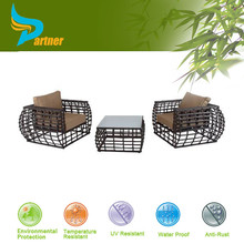 New Style High Quality Two Seats Rattan Garden Set / Patio Swimming Poolside Garden Furniture Set