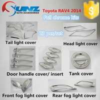 Japanese SUV Toyota Rav4 2014- chromed kits full sets chrome body deflector innovative car 4x4 accessories