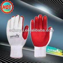 shandong 118g de látex recubierto con película de seguridad guantes de trabajo