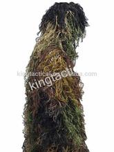 Militar de juego del ghillie/táctico bosques ghillie traje/camo ghillie traje para la venta