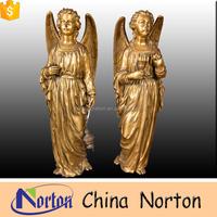 alibaba hot sale garden bronze angel sculpture NTBH-S0601S