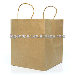 Flat-Bottomed Brown Paper Grocery Bag