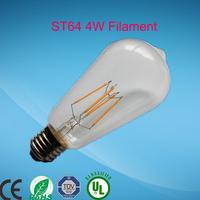 led bulb b22 e26 bulb lamp manufacturing ST64 6w 8w Edison Bulb19 Anchors Squirrel Cage Filament Clear Glass LED bulb